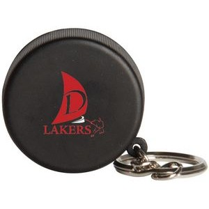 Hockey Puck Squeezies� Stress Reliever Keychain
