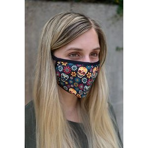 Structured Eco 2-ply Custom Printed Face Mask - 6oz Elastic Stretch Polyester