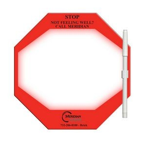 Stop Sign Digital Memo Board